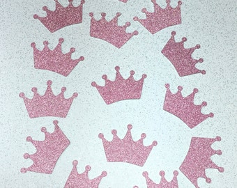 Crown Princess Custom Glitter Sticker Die Cuts Handmade Scrapbooking Birthday Party Baby Collection Stationery Decoration