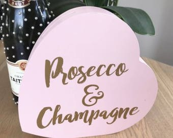Pink Heart Moneybox, Prosecco and Champagne Savings Bank