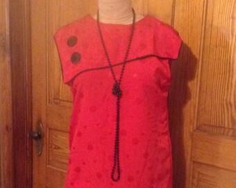 Red & Black Flapper Costume