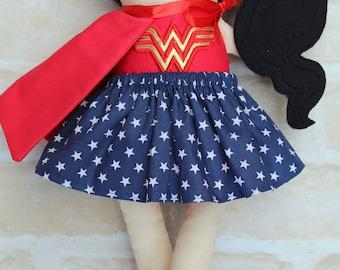 CUSTOM MADE***Personalised Superhero Girl  Doll Handmade - Softie First Birthday Cloth Rag Doll - Child Friendly-dolly dress up