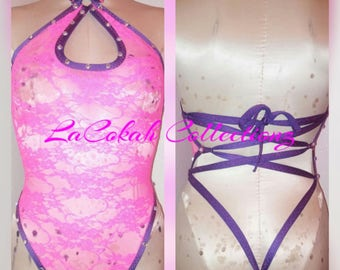 Pink Lace One piece