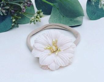 Flower headband, baby headband,  flower headband, adult headband