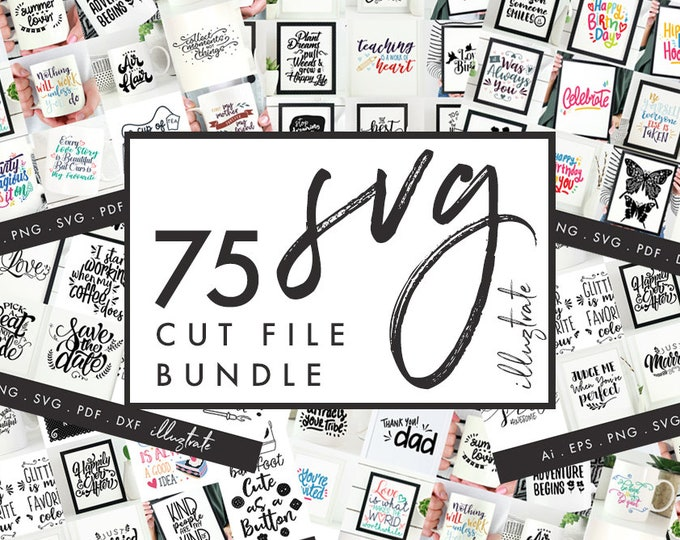 SVG Bundle, SVG Cut File Bundle, SVG quote bundle, silhouette cameo, cricut, svg collection, svg cut files, dxf bundle, dxf cut file bundle