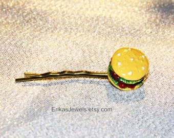 Hamburger Antique Bronze Bobby Pin