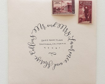Custom Hand-Lettered Envelope Calligraphy Addressing