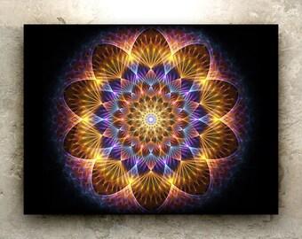 BLOOM ART – HD Print: sacred geometry, fractal, cosmic, mandala, psychedelic, flower, pollination, nature, metaphysical, elemental