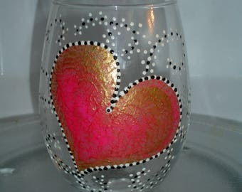 Heart  wine glass (1 available right away)