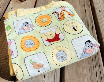 Winnie The Pooh Baby Blanket, Receiving Blanket