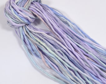 Hand Dyed Silk Ribbons - Pastel Lavender Palette