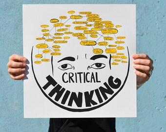 Critical Thinking Screenprint Poster