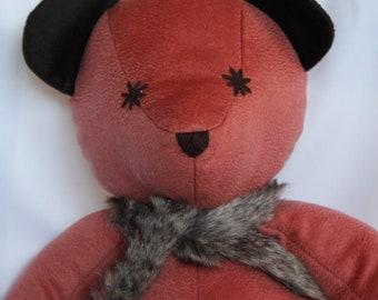 100% Cashmere Pink Teddy Bear
