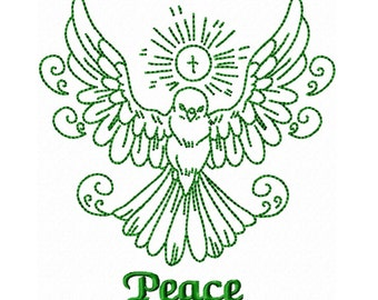 Peace Dove Redwork Machine Embroidery DESIGN NO. 299