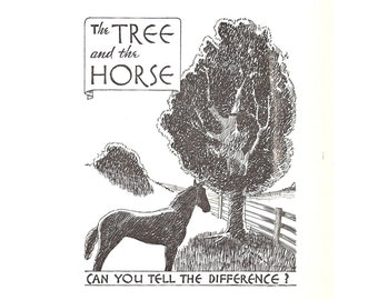 The Tree And The Horse .. 1933 Antique Book Illustration