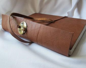 Leather journal. Handmade paper.