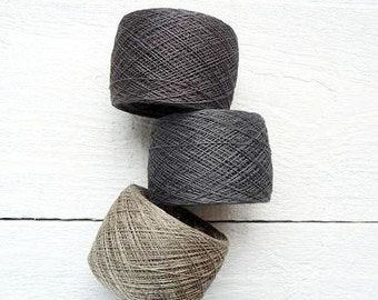 Natural Linen Yarn, linen thread, natural linen, linen, grey, Lithuania linen