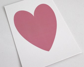 Pink Shimmer Heart on White Shimmer paper // pink heart art // girls gallery wall // pink heart print // PRINT SIZE 5x7
