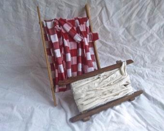 Vinage Rag Yarn Wooden Spool Set Home and Living Vintage Display Spools Vintage Handmade Spools Hand Torn Rag Yarn Vintage Crafting Spools