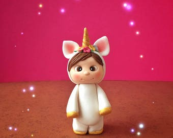 Cute Baby Unicorn Cake Topper