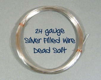24ga DS Dead Soft Silver Filled Wire - Choose Your Length