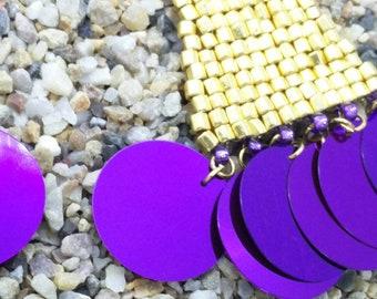 Golden Triangle Beaded Earrings- ROYALTY LINE