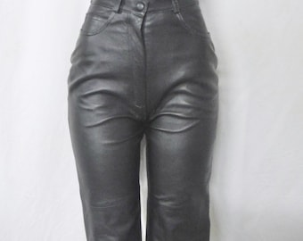 High waist Leather Pants size 2/4