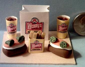 Barbie Sized Wendys Stuffed Potato's Food Display Board