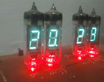 VFD IV-6 Tubes nixie clock with red backlight nixie era
