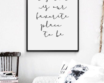 Love Quote Print Anniversary Gift for Boyfriend, Minimalist Poster, Scandinavian Art, Bedroom Wall Decor Typography, Valentines Gift for Him