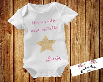 """Bodie """"Born a Star"""" gift for babies, personalized gift babies, newborn gift"""