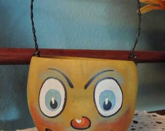 Vintage Style Folk Art Halloween Lantern Candy Cup