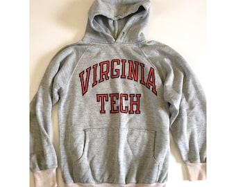 Vtg 70's 80's Virginia Tech Hoodie