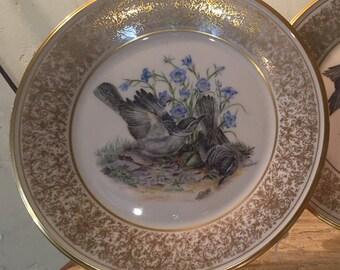 Lenox Boehm bird plate mockingbird