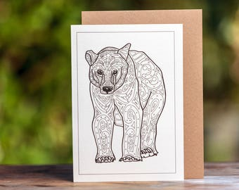 Bear Greetings Card
