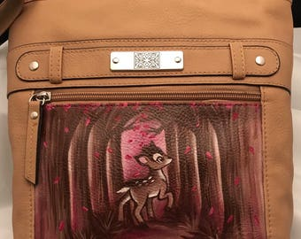 Hand-painted Bambi handbag