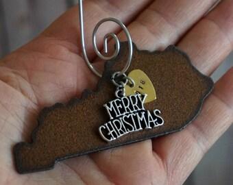 "KENTUCKY Christmas Ornament MEDIUM 3"", Kentucky Ornament, Christmas Gifts 2018 Christmas Ornaments, KENTUCKY Gift, Personalized Gifts"