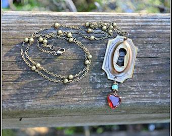Collier de keyhole Architectural Salvage collier laiton antique