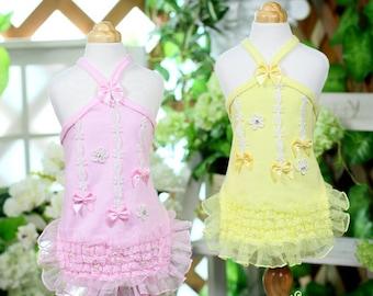 Strawberry Sherbet-Designer Handmade Dress for Pets/ Free shipping