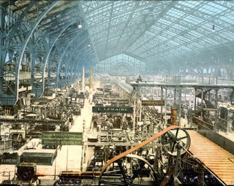 Poster, Many Sizes Available; Interior Of Exhibition Building, Exposition Universal, Paris, France