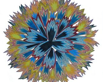 Star -16 // Original Art Collage // Original Art // Art // Bohemian Decor Wall // boho decor // eclectic decor