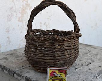 Wicker Basket - Distressed Basket - Vintage Basket - Old Basket - Handmade Wicker Basket - Small Basket - Traditional Basket - Hand Basket