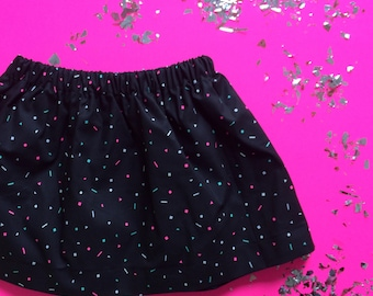 SAVED by the BELL // bright skirt // 90s themed // baby and toddler skirt