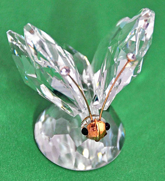 Vintage 1982 SWAROVSKI BUTTERFLY #2 SC Crystal Tips No Box Excellent Condition