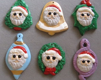 Jerry Garcia ceramic ornaments, free personalizing, select from the shape menu