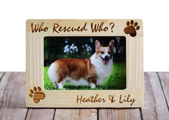 Who Rescued Who Personalized Pet Picture Photo Frame- Custom Picture ...