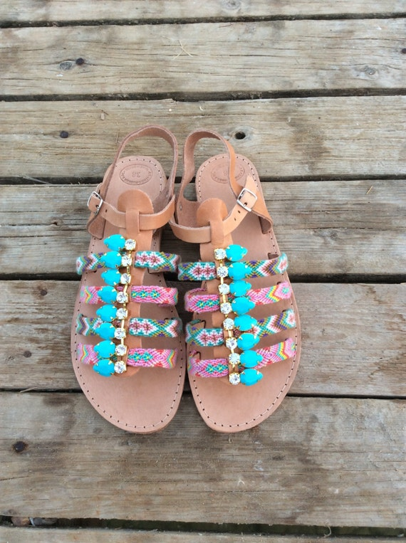 Handmade Women Boho Leather Sandals Gladiator Sandals Bracelet Gladiators Friendship Sandals Boho Sandals sandals Greek Sandals qgp4wxwv