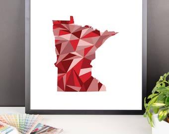 MINNESOTA State Pattern Map Print, Minnesota Poster, Minnesota Wall Art, Minnesota Art, Minnesota Gift, Minnesota Decor, Minnesota Print