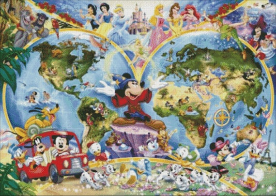 Disney heroes disney world map cross stitch pattern pdf disney heroes disney world map cross stitch pattern pdf pattern instant downloaddisney embroidery gumiabroncs Image collections