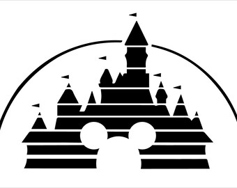 Disney Studios Castle with Mickey Opening Vinyl Decal Sticker
