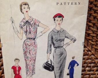 1955 Vogue 8636 dress pattern