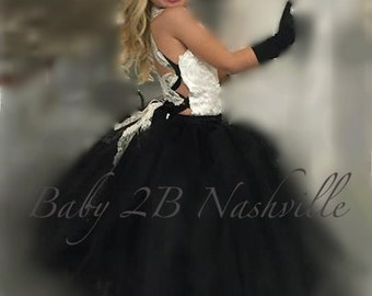 Ivory Dress Black Dress Wedding Dress Flower Girl Dress Baby Dress Satin Dress Tulle Dress Tutu Dress Toddler Dress Girls Dress Party Dress